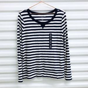 NWT GAP Navy White Stripe Long-sleeve Tee